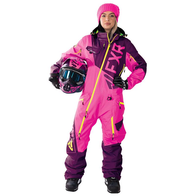 FXR Ranger Instinct Womens Monosuit, WineberryElectric PinkHi Vis