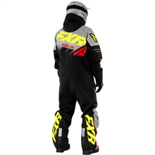 FXR CX Lite Monosuit, Black/Grey/Hi-Vis/Nuke Red