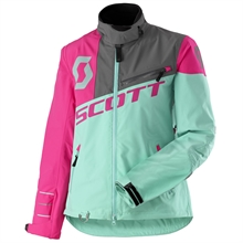 Scott Shell Pro Womens Jacka + Byxa, Light Mint Green/Neon Pink